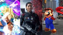 Dragon Ball FighterZ, Battlefront 2 et Mario Odyssey